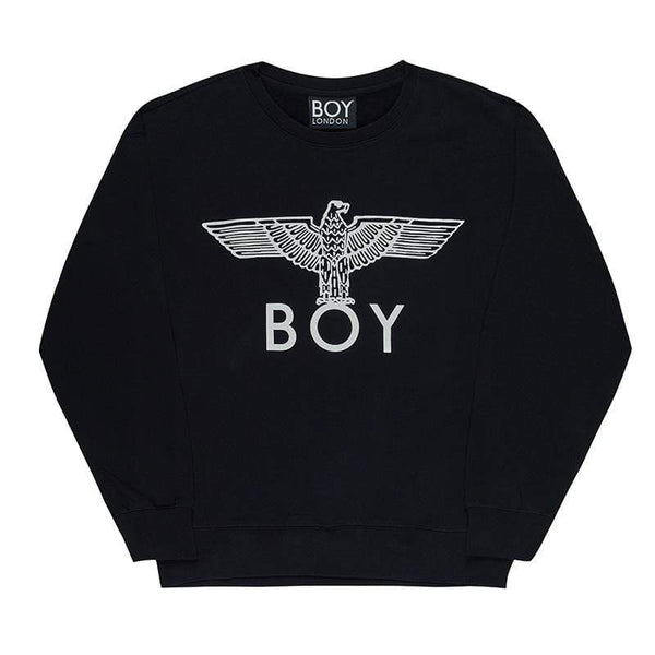 boy-london-shop SWEATSHIRT XS / BLACK/WHITE BOY EAGLE SWEATSHIRT