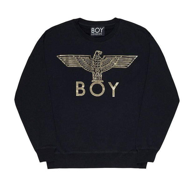 boy-london-shop SWEATSHIRT XS / BLACK/GOLD BOY EAGLE SWEATSHIRT
