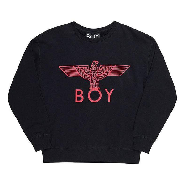 boy-london-shop SWEATSHIRT XS / BLACK/PINK BOY EAGLE SWEATSHIRT