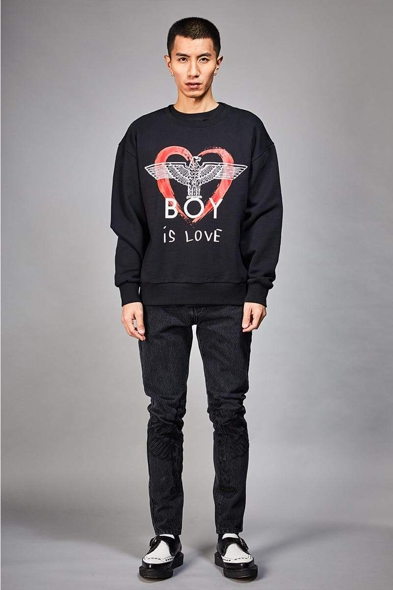 boy-london-shop SWEATSHIRT BOY IS LOVE SWEATSHIRT
