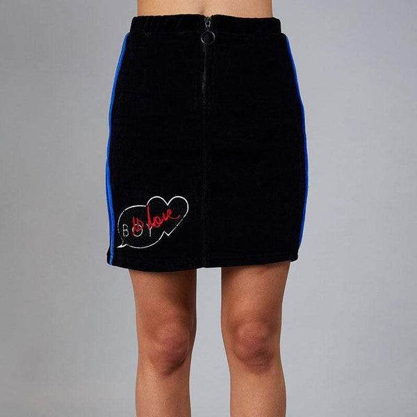 BOY LONDON SKIRT BOY IS HEART VELVET SKIRT