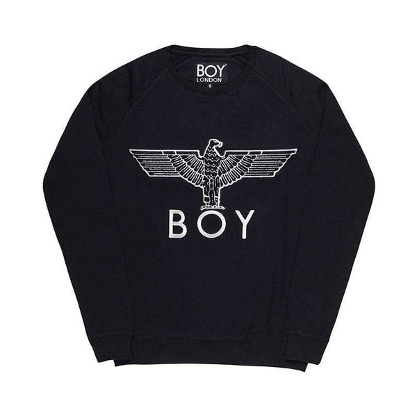 BOY LONDON SWEATSHIRT BOY EAGLE APPLIQUE SWEATSHIRT