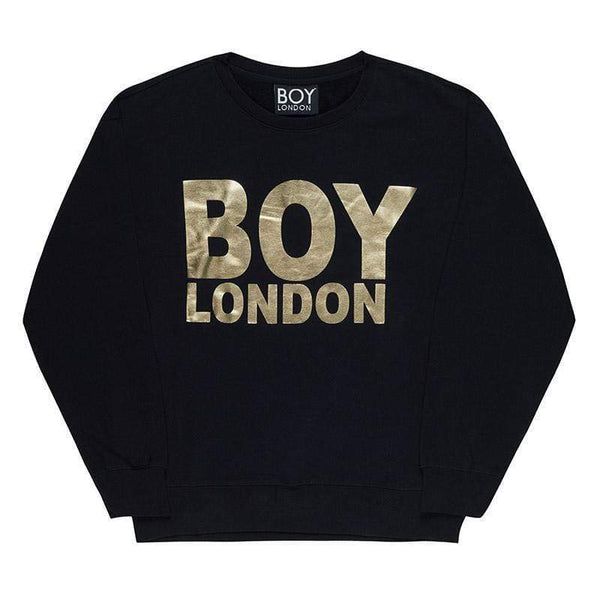 BOY LONDON SWEATSHIRT XS / BLACK/GOLD BOY LONDON SWEATSHIRT - BLACK
