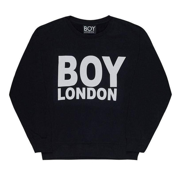 BOY LONDON SWEATSHIRT XS / BLACK/WHITE BOY LONDON SWEATSHIRT - BLACK