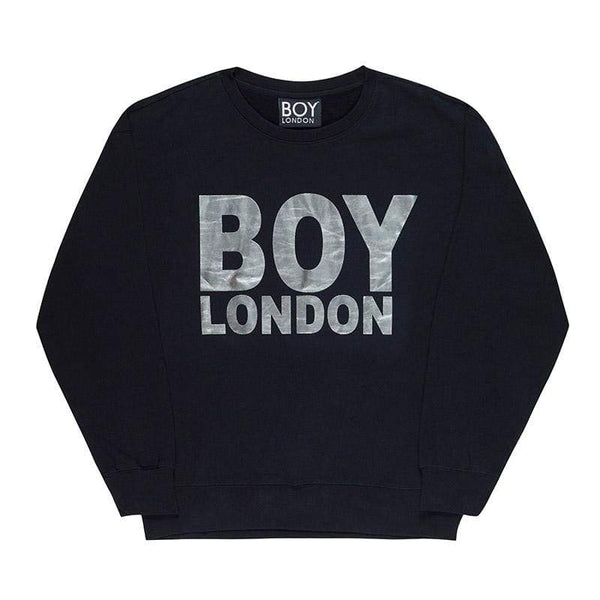 BOY LONDON SWEATSHIRT XS / BLACK/SILVER BOY LONDON SWEATSHIRT - BLACK