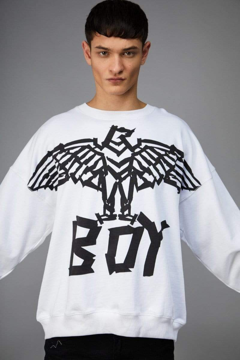 BOY LONDON SWEATSHIRT BOY TAPE EAGLE SWEATSHIRT