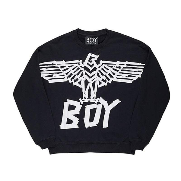 BOY LONDON SWEATSHIRT BOY TAPE EAGLE  SWEATSHIRT - BLACK