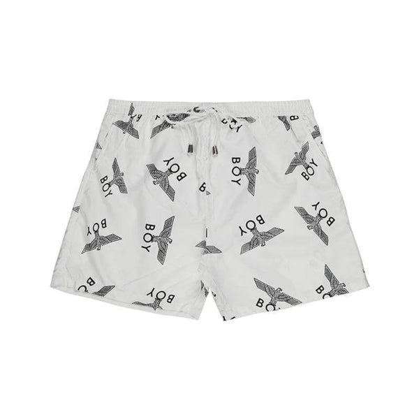 BOY LONDON SWIMWEAR XS / WHITE BOY SWIM SHORT