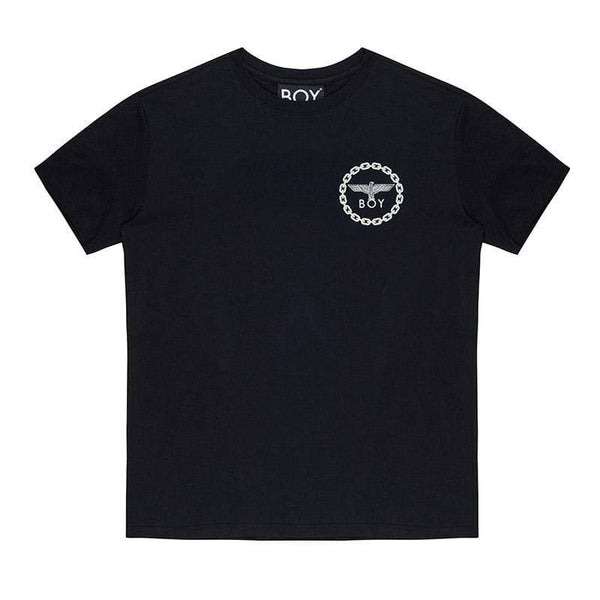 BOY LONDON T-SHIRT XS / BLACK/WHITE BOY EAGLE BACKPRINT T-SHIRT