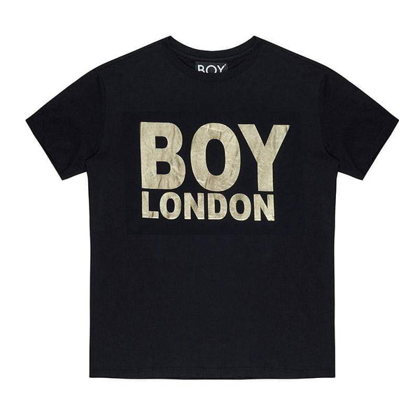 BOY LONDON T-SHIRT XS / BLACK/GOLD BOY LONDON T-SHIRT - BLACK