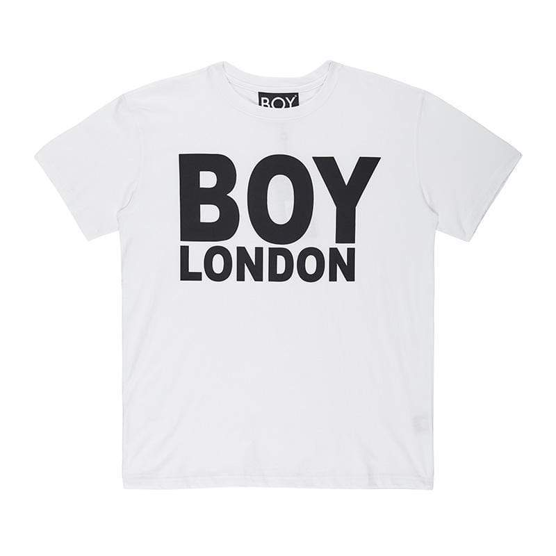 BOY LONDON T-SHIRT XS / WHITE/BLACK BOY LONDON T-SHIRT - BLACK