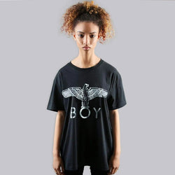 BOY EAGLE T-SHIRT - BLACK/SILVER