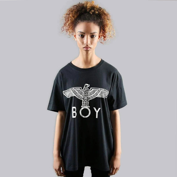 BOY EAGLE T-SHIRT - BLACK/WHITE