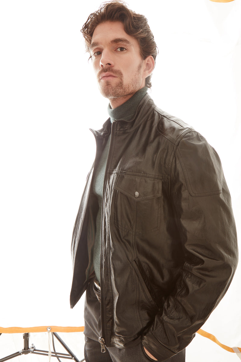 The City Leather Jacket