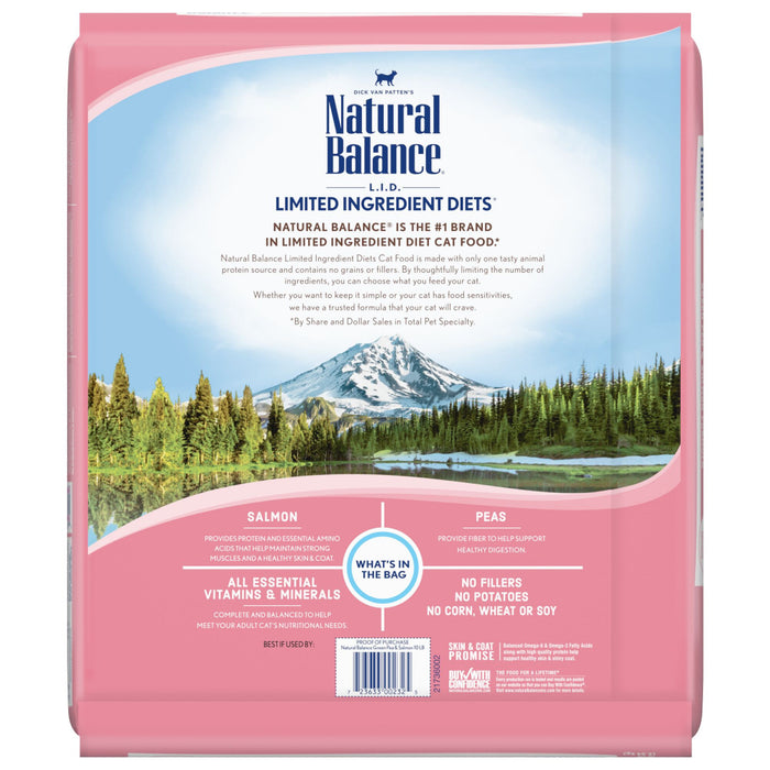 Natural Balance L.I.D. Limited Ingredient Diets Green Pea & Salmon Dry Cat Food