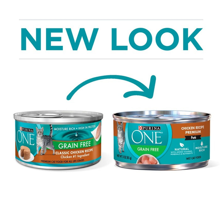 Purina ONE Grain Free Pate Chicken Canned Cat Food