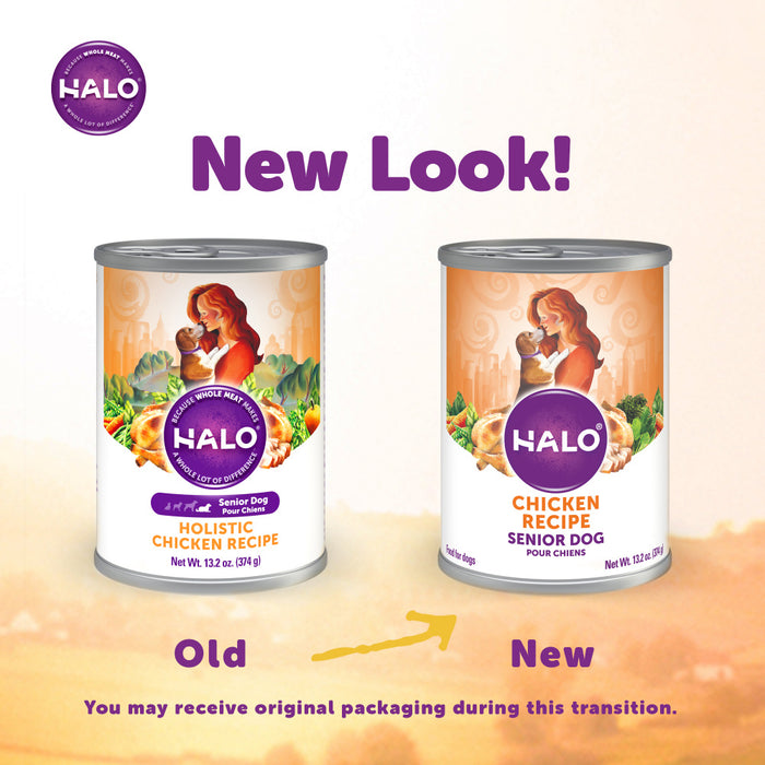 Halo Senior Chicken Recipe Canned Dog Food