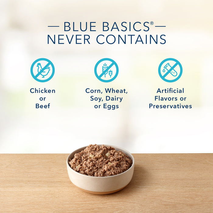 Blue Buffalo Basics Limited Ingredient Diet Grain Free Adult Lamb & Potato Canned Dog Food