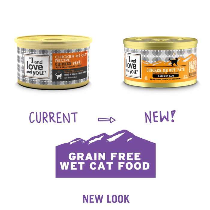 I and Love and You Grain Free Chicken Me Out Recipe Canned Cat Food