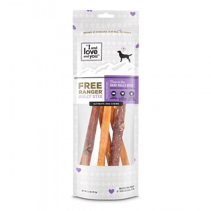 I and Love and You Free Grain Free Ranger Bully Stix Dog Treats