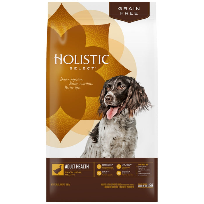 Holistic Select Natural Grain Free Duck Meal Dry Dog Food