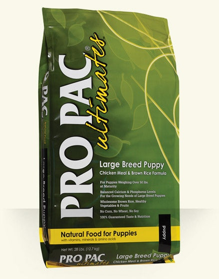 PRO PAC Ultimates Large Breed Puppy Chicken Meal & Brown Rice Recipe Dry Dog Food