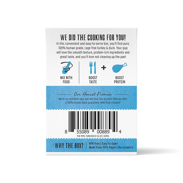 The Honest Kitchen Meal Booster 99% Turkey & Duck Dog Food Topper
