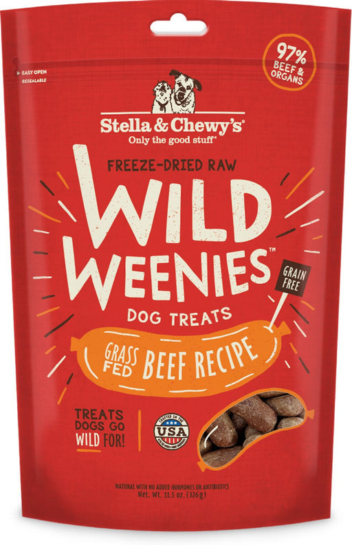 Stella & Chewy's Wild Weenies Raw Beef Freeze Dried Raw Dog Treats