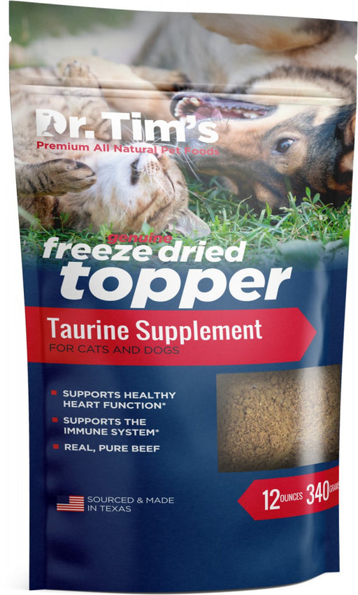 Dr. Tim's Freeze Dried Beef Taurine Food Topper for Dogs & Cats