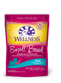 Wellness Small Breed Complete Health Adult Whitefish, Salmon Meal & Peas Recipe Dog Food