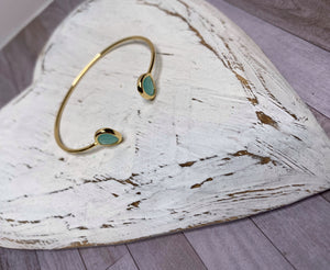 Gold Gem Stone Bangle