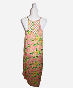 Romance Tropical Tea Length Dress