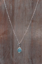 Load image into Gallery viewer, WA Silver Gem Stone Necklace