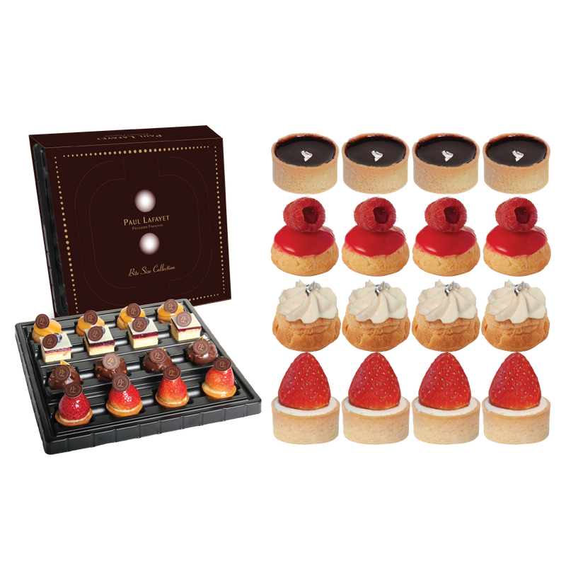 French Bite Size Cake Set - Discovery (16 pcs)