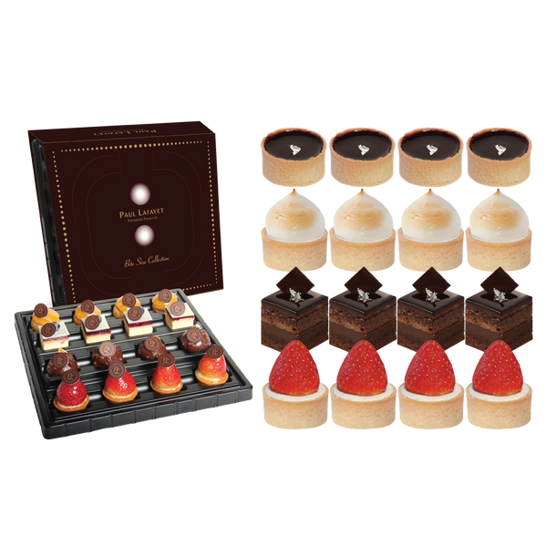 French Bite Size Cake Set - Traditional (16 pcs)
