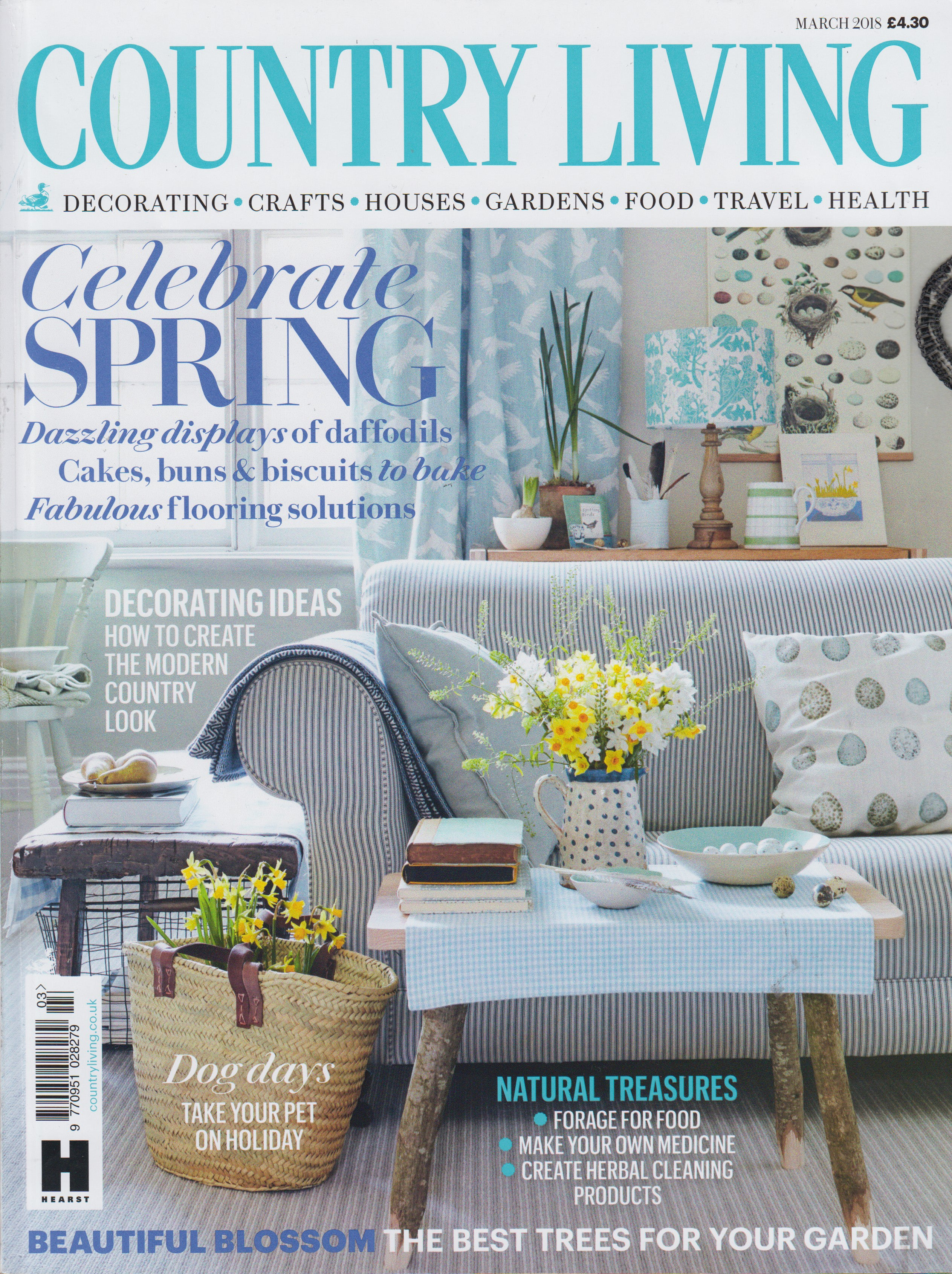 Country Living Magazine Cover Emporium featuring Kate Guy Rebecca's Cupboard apron
