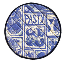 Load image into Gallery viewer, Cornish Pasty Linocut Print on Cooker Hob Cover by Kate Guy Prints Last One SALE