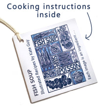 Load image into Gallery viewer, Simple Soups Illustrated Recipe Organic Cotton Apron
