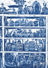Load image into Gallery viewer, Kate Guy Prints French Country Kitchen linocut greetings card