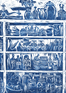 Kate Guy Prints French Country Kitchen linocut greetings card