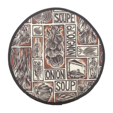 Load image into Gallery viewer, French Onion Soup Illustrated Recipe Cooker Hob Cover, comes with cooking instructions