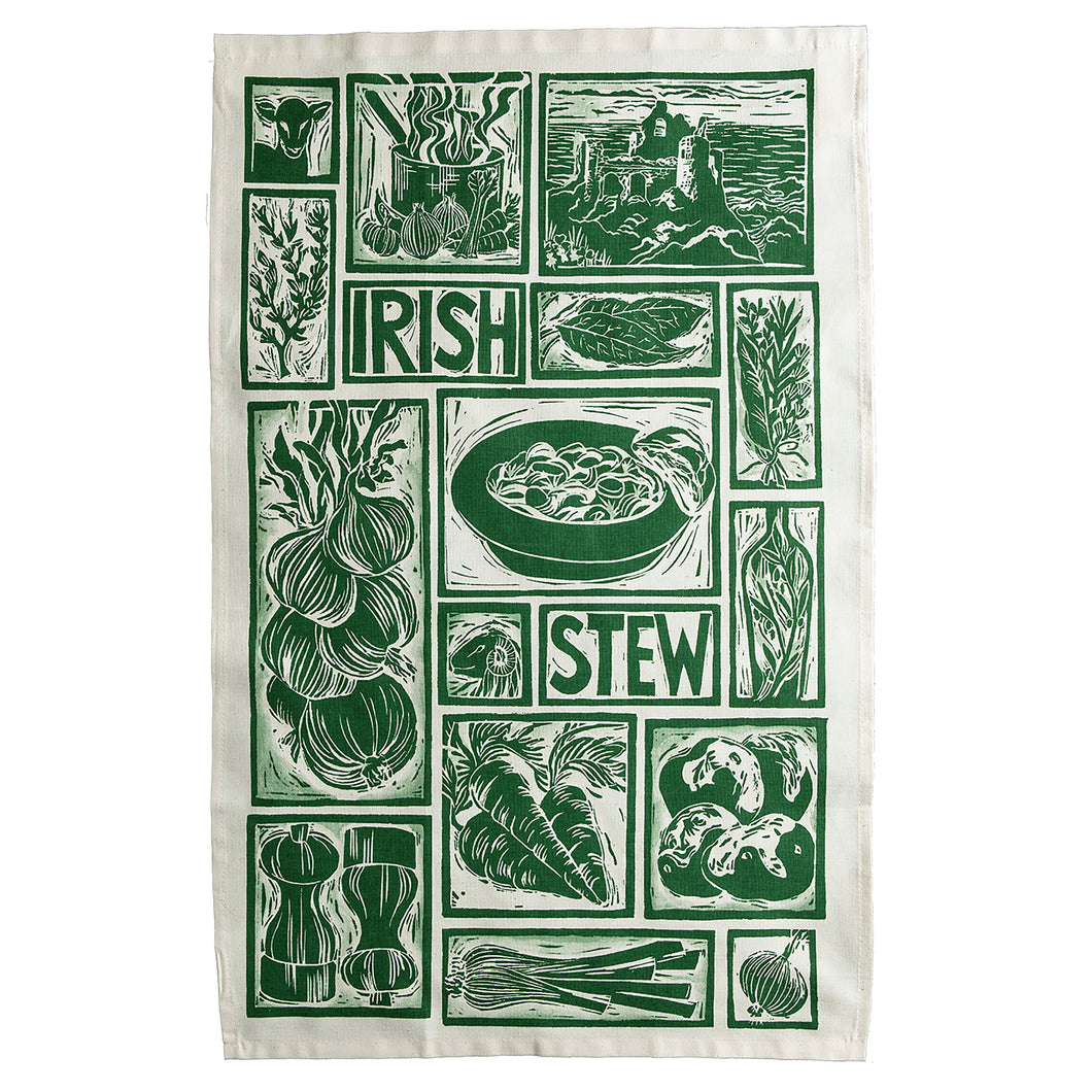 Irish Stew Illustrated Recipe Tea Towel