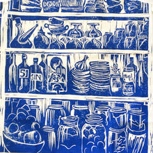 Load image into Gallery viewer, French Country kitchen lino cut organic cotton apron lino cut by Kate Guy