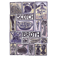 Load image into Gallery viewer, Kate Guy Prints Scotch Broth Illustrated recipe Linocut greetings card