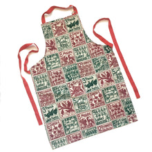 Load image into Gallery viewer, Christmas Gift Set Tea Towel, Apron and Double Oven Glove illustrated recipes mix and match Kate Guy Prints