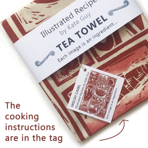 Welsh Cawl Illustrated Recipe Organic Cotton Apron