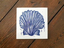 Load image into Gallery viewer, Scallop Shell Handmade Tile Trivet