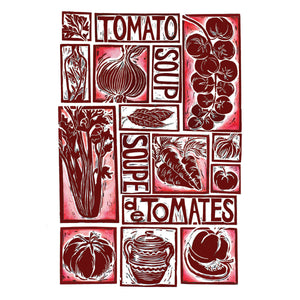 Kate Guy Prints Tomato Soup illustrated recipe greetings card
