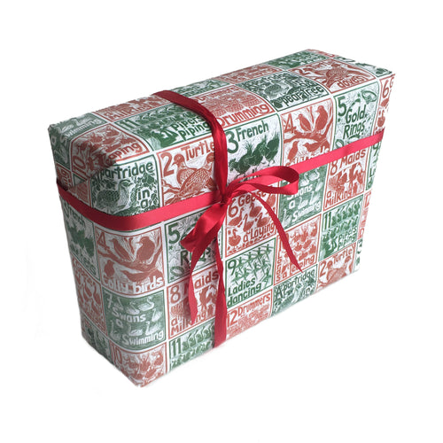 12 days of Christmas wrapping paper Kate Guy Prints