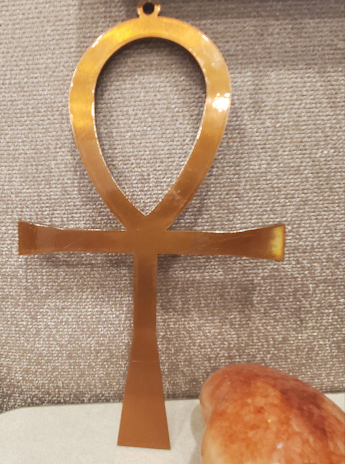 XL Solid Copper Ankh